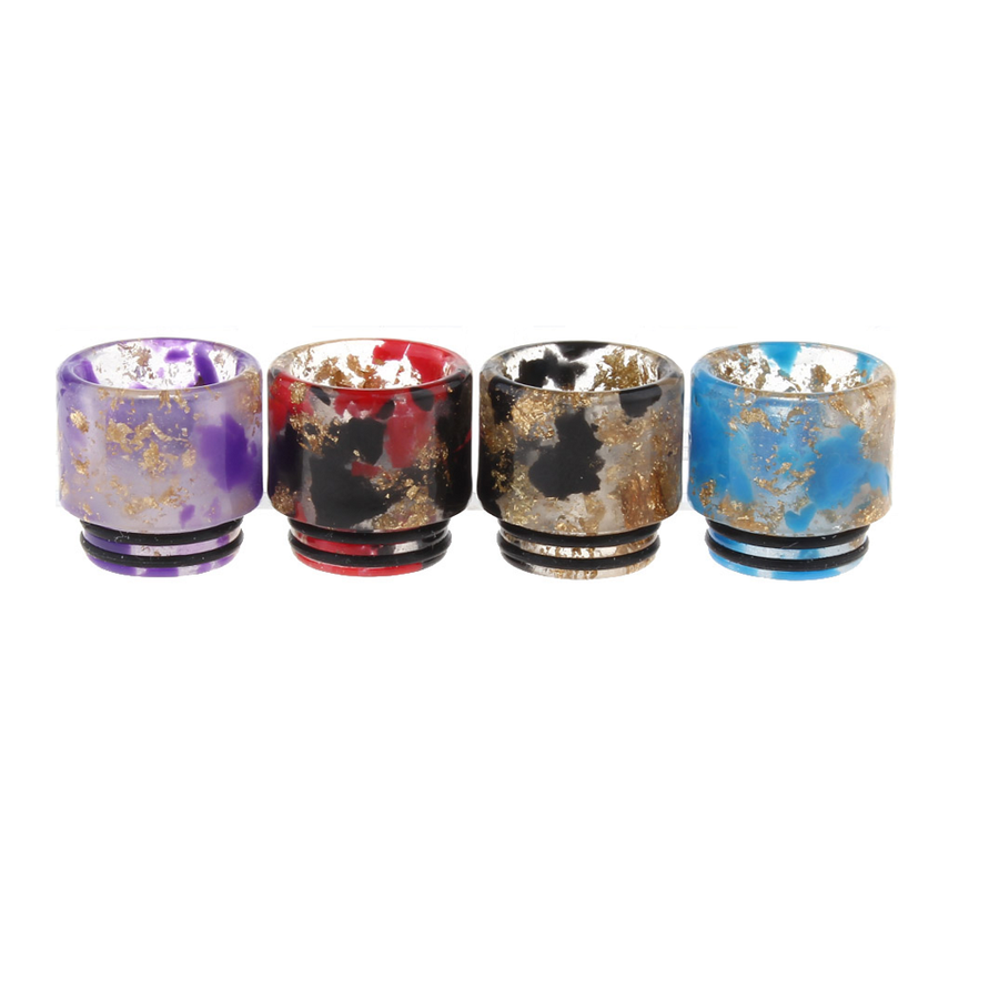 810 Gold Flake Drip Tips New!