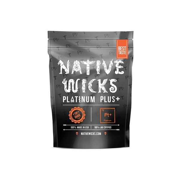 Native Wicks Platinum Plus Cotton New!