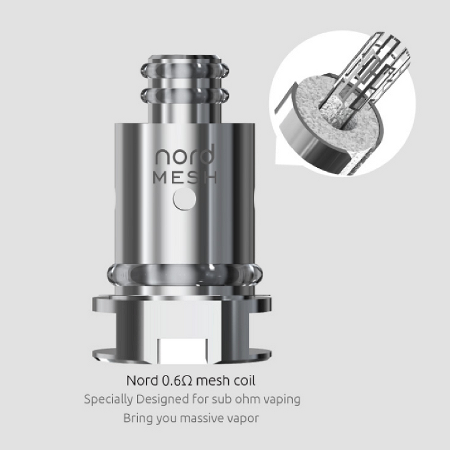 Smok Nord Replacement Coils 5 Pack New!