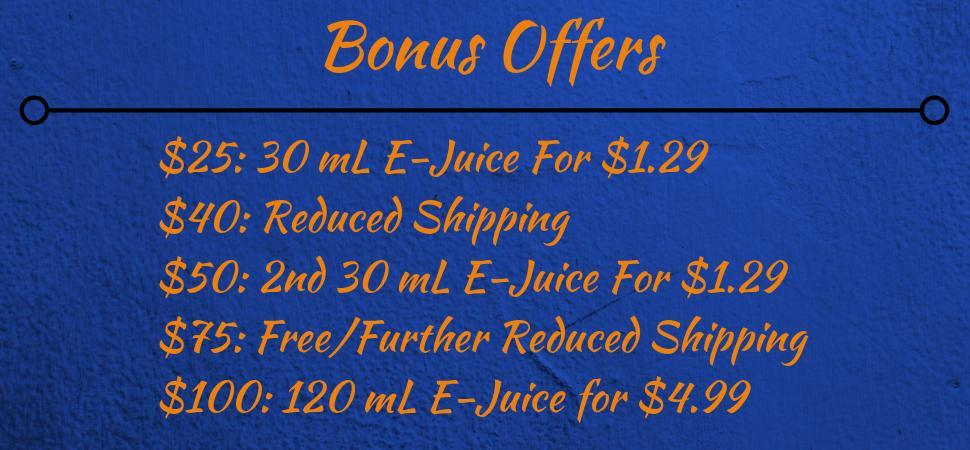 New EJuice Pricing Structure