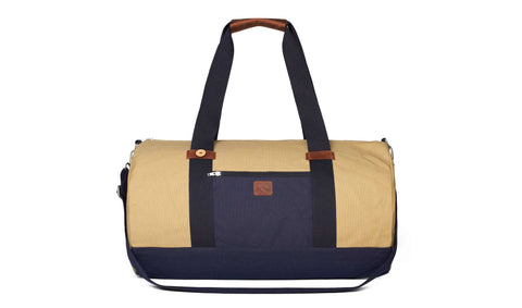 BIG DUFFLE - BEIGE/NAVY