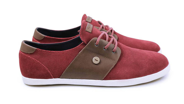 CYPRESS Suede/Leather - Burgundy/Moka