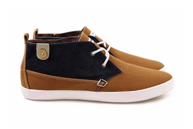 OLEASTER Cotton Suede - Tobacco/Navy