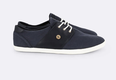 CYPRESS Cotton/Leather - NAVY