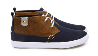 OLEASTER Cotton/Suede - Navy/Tobacco