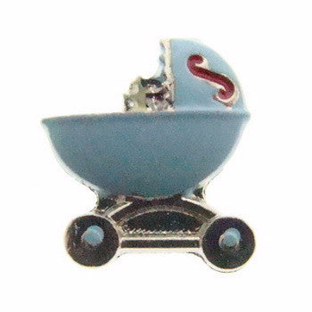 Blue Baby Bassinet Charm - Pi Style Boutique - Center Court