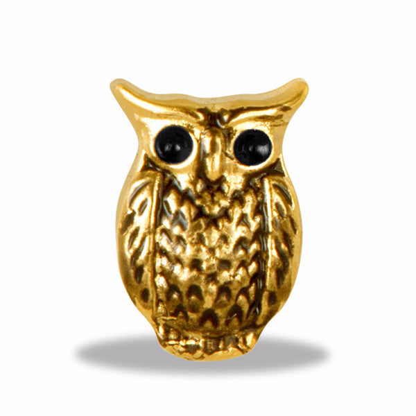 Gold Owl Charm - Pi Style Boutique - Center Court