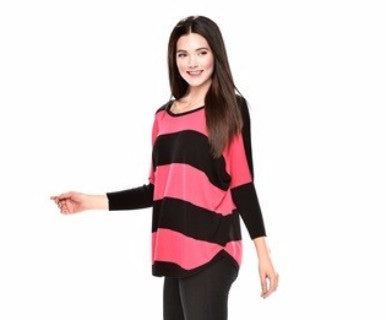 Striped Scalloped - Sweater Top - Pi Style Boutique - Pi Style Boutique -  - 1