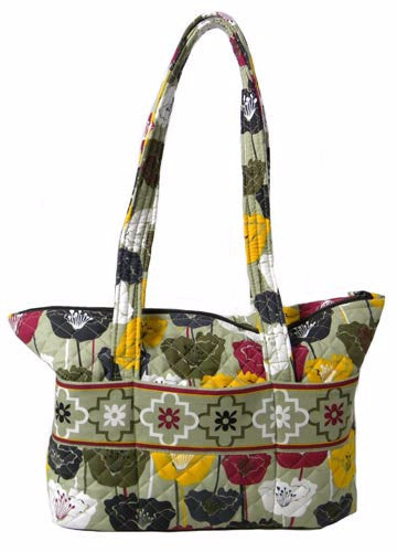 Zip Tote - Perfectly Poppy - Pi Style Boutique - Stephanie Dawn