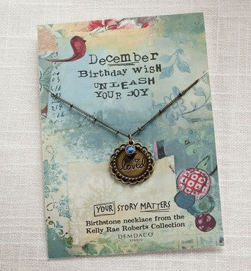 December Birthstone Necklace - Pi Style Boutique - Demdaco