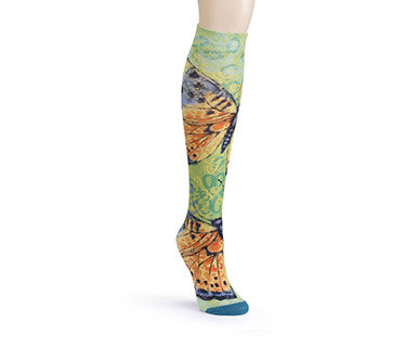 Gold Butterflies (Susan Winget) - Soul to Sole Knee High Socks