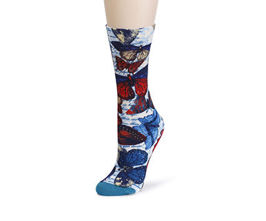 TC Mid Calf Sock - American Butterflies - Pi Style Boutique - Demdaco - Accessories - 2