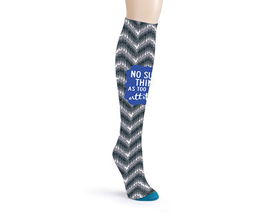 OMC Knee Sock - Attitude, Chevron - Pi Style Boutique - Demdaco - Accessories - 2