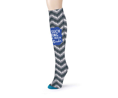 OMC Knee Sock - Attitude, Chevron - Pi Style Boutique - Demdaco - Accessories - 1
