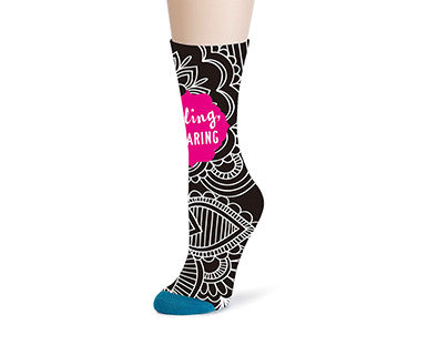 OMC Mid Calf Sock - Be Daring, Floral - Pi Style Boutique - Demdaco - Accessories - 1
