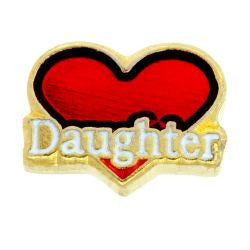 Heart Daughter Charm - Pi Style Boutique - Center Court