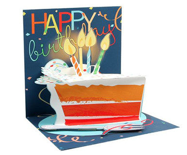 Big Slice Of Cake - Up With Paper Pop-Up Card - Pi Style Boutique - Up With Paper - Gifts & Decor - 1