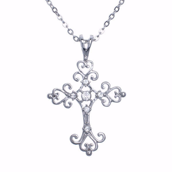 Scroll Cross Necklace - Pi Style Boutique - Annaleece
