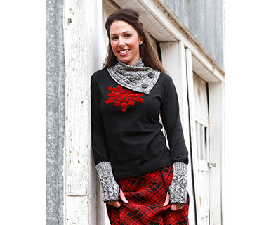 Appliqué Velvet Snowflake (Black/Red) - L - Pi Style Boutique - Green 3 - Accessories - 2