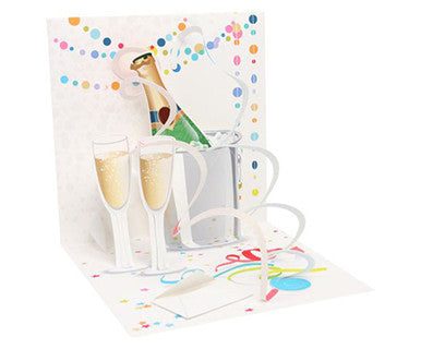 A Toast For You! - Up With Paper Pop-Up Card