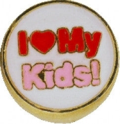 I Love My Kids Charm - Pi Style Boutique - Center Court