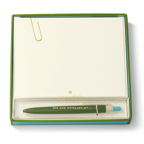 From The Desk - Kate Spade Pen & Notecard Set