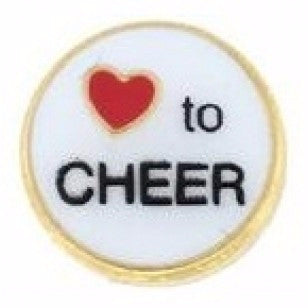 I Love To Cheer Charm - Pi Style Boutique - Center Court