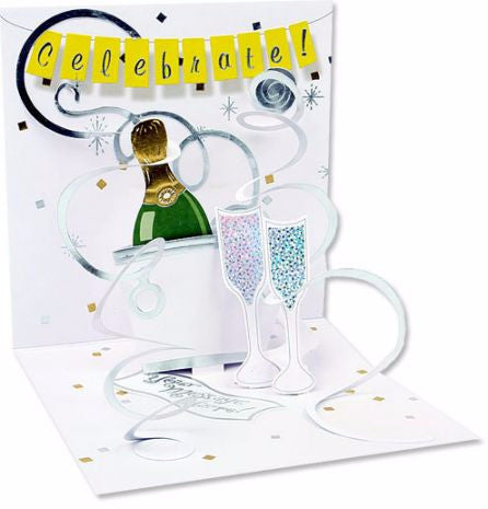 "Champagne Romance Pop Up ""Treasures"" Card - Pi Style Boutique - Up With Paper - 1"