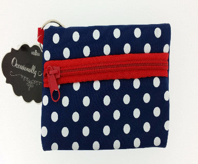 Occasionally Made Neoprene ID Case- Navy/Red - Pi Style Boutique - Occasionally Made