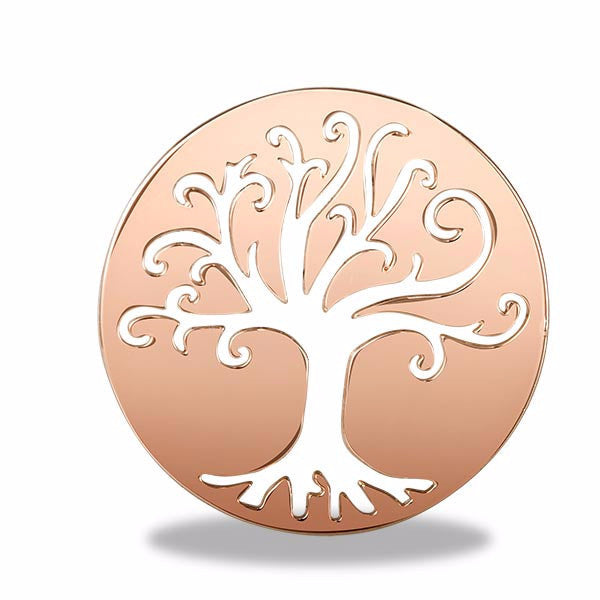 Rose Gold Tree Of Life Round Disk - Pi Style Boutique - Center Court