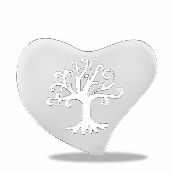 Silver Tree Of Life Heart Disc - Pi Style Boutique - Center Court - Accessories