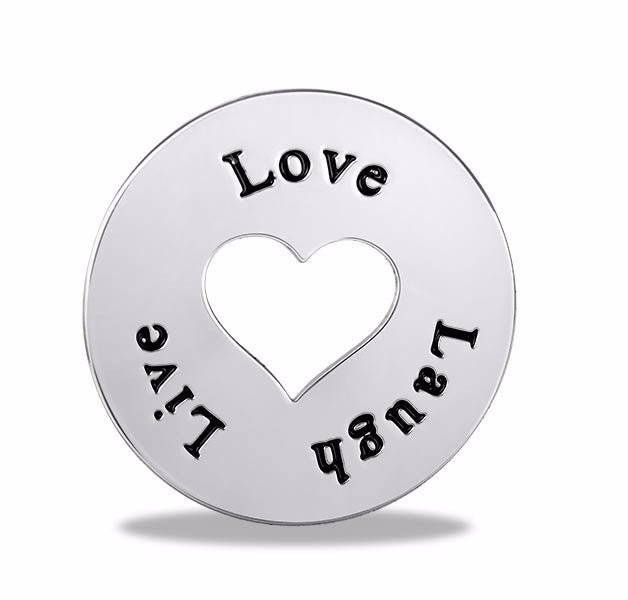 Live Laugh Love Round Disk - Pi Style Boutique - Center Court