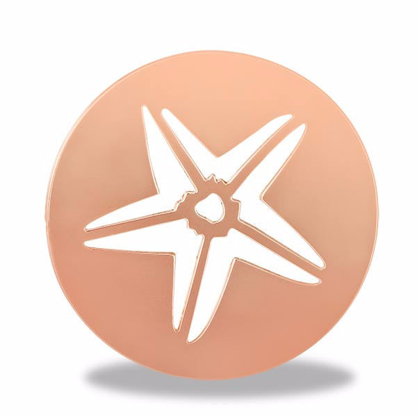 Rose Gold Starfish Round Disk - Pi Style Boutique - Center Court