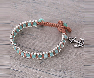 Azure Anchor- Elly Preston Wrap Bracelet