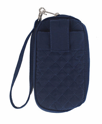 Large Everything Wristlet - SD Signature - Navy - Pi Style Boutique - Stephanie Dawn