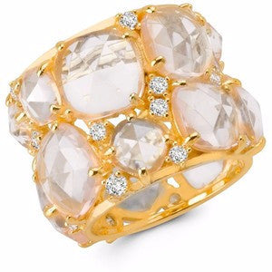 40 CTTW Clear CZ Candy Couture Gold Ring