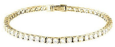 5.2 carat Gold Plated Round Cut Tennis Bracelet
