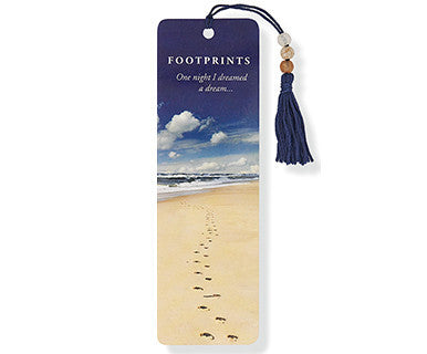 Beaded Bookmark: Footprints