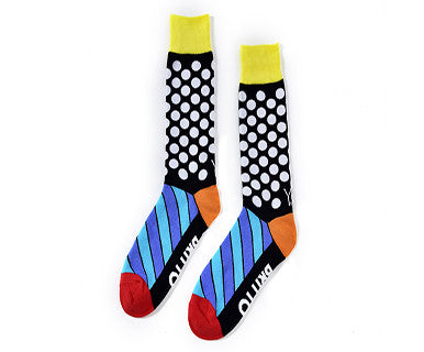 Dots & Stripes (Britto) - Mens Yosox Crew Socks