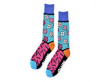 Flowers (Britto) - Men's Yosox Crew Socks