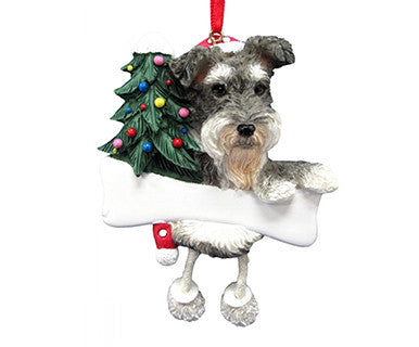 Schnauzer, uncropped dangling dog ornament 5x3.5x1 - Pi Style Boutique - E&S Pets - Gift & Decor