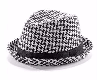 Hand it to Houndstooth - Fedora Hat - Pi Style Boutique - Giftcraft - Accessories