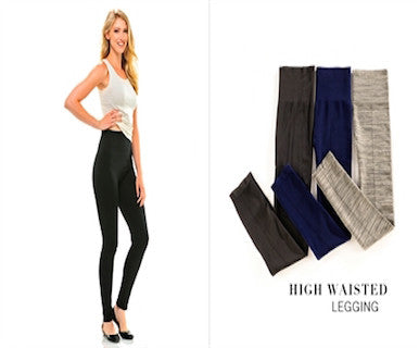 High Waisted - Leggings - Pi Style Boutique - Giftcraft