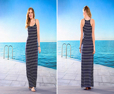 Striped Maxi-Dress - Pi Style Boutique - Giftcraft - Clothing