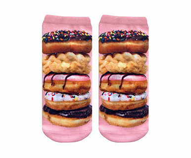 Stacked Donut - Living Royal No Show Socks