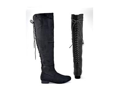 Back Laces - Charlie Paige Knee High Boots