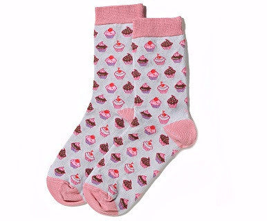 Pink Cupcakes - Women's YoSox - Pi Style Boutique - Giftcraft - Accessories