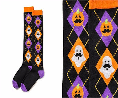 Pumpkins  & Ghost - Womens YoSox - Pi Style Boutique - Giftcraft - Accessories