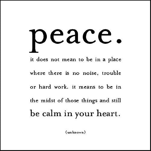 """Peace..."" - Quoteable card"