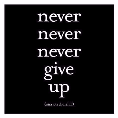 "Quotable Card Winston Churchill ""Never Never Never Give Up"" - Pi Style Boutique - Quotable Cards"